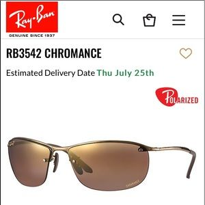 Ray-Ban Polarized Lens Sunglasses | Brown| RB3542